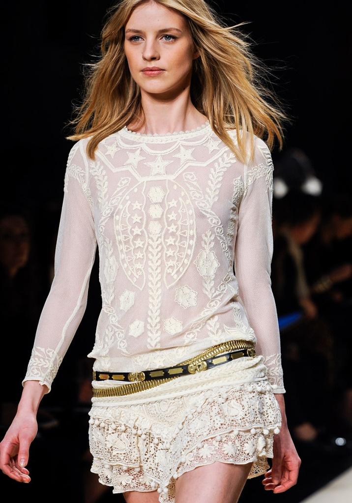 isabel marant laceIsabelmarant, Paris Fashion, Fashion Weeks, Style, Marant Fall, Fall 2012, White Lace, Isabel Marant, 2012 Rtw