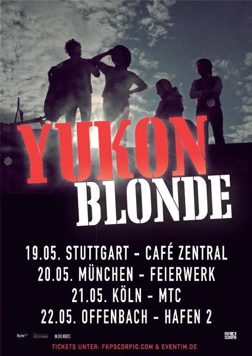 In.die Meute präsentiert die Konzerte von Yukon Blonde im Mai 2012!    +++ Ticketverlosung für alle Shows    Checkt die Dates: http://www.indiemeute.de/in-die-meute-prasentiert-yukon-blonde-tour-mai-2012/    Bereits im Februar waren Yukon Blonde bei uns unterwegs und haben einen hervorragenden Eindruck hinterlassen. Am 19. Mai startet die Tour von Yukon Blonde in Stuttgart, danach geht es weiter über München, Köln und Offenbach! Wir verlosen Tickets für jede Stadt!