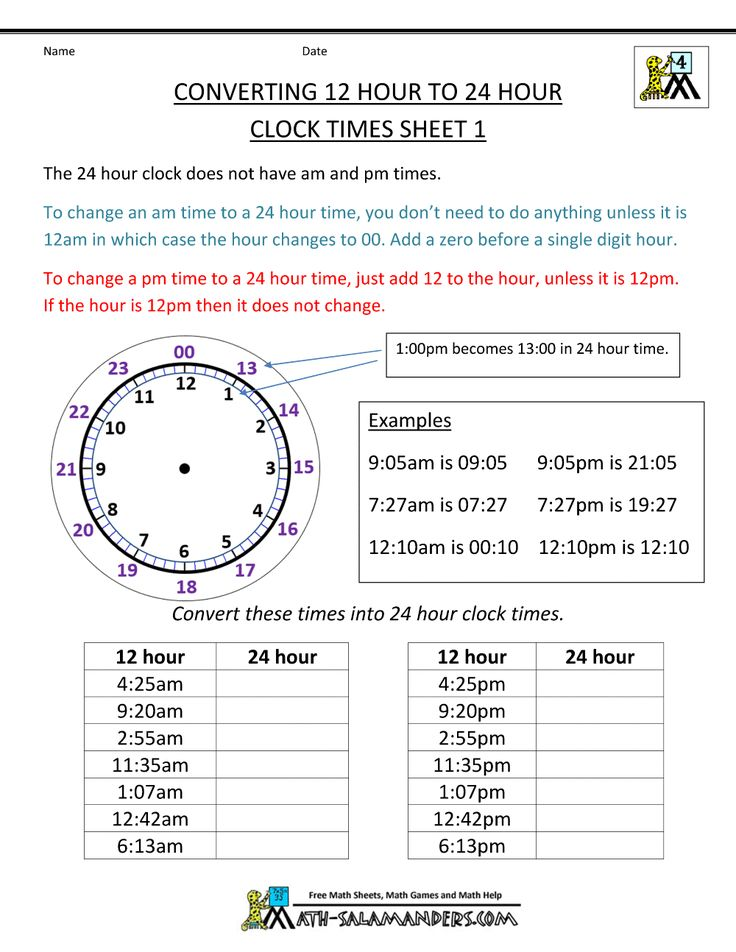 Best Time Images On    Hour Clock Teaching Ideas