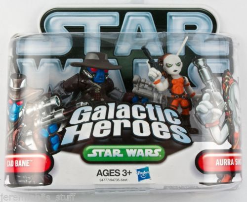Star Wars Galactic Heroes Cad Bane & Aurra Sing mini figures Hasbro - new - MIMP