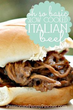 Slow Cooked Italian Beef Sliders- easy dinner idea.