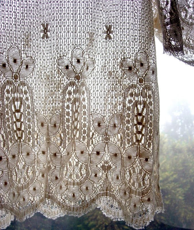 53 Best Images About Crocheted Window Treatments On