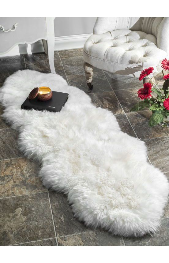 Rugs Usa Shag Double Sheepskin With Faux Backing Natural