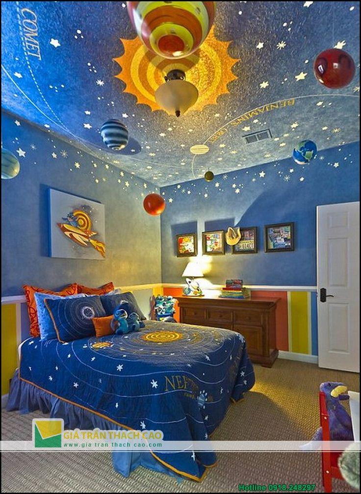 Trần thạch cao cho phòng ngủ trẻ em 02