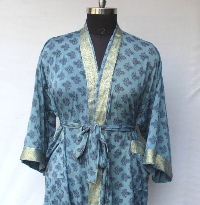 Women Luxury Mid Calf Smooth Robe Robe with Elegant Bridal Wear Bridesmaid Wedding kimono High-quality Lingeries #MKS 121