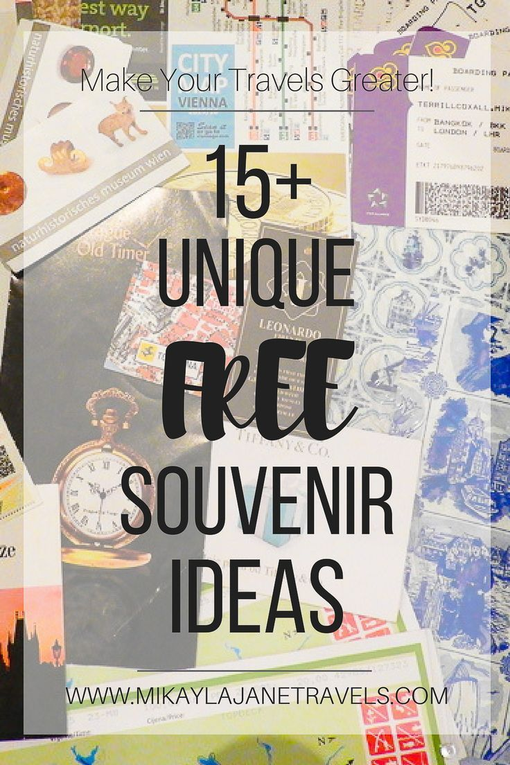 15+ Unique Free Souvenir Ideas - Make Your Travels Greater! Souvenirs can be expensive and bulky, try these tips for lighter and cheaper adventures. #souvenir #budgettravel #minimalism #ethicaltravel #travelmore   www.mikaylajanetravels.com