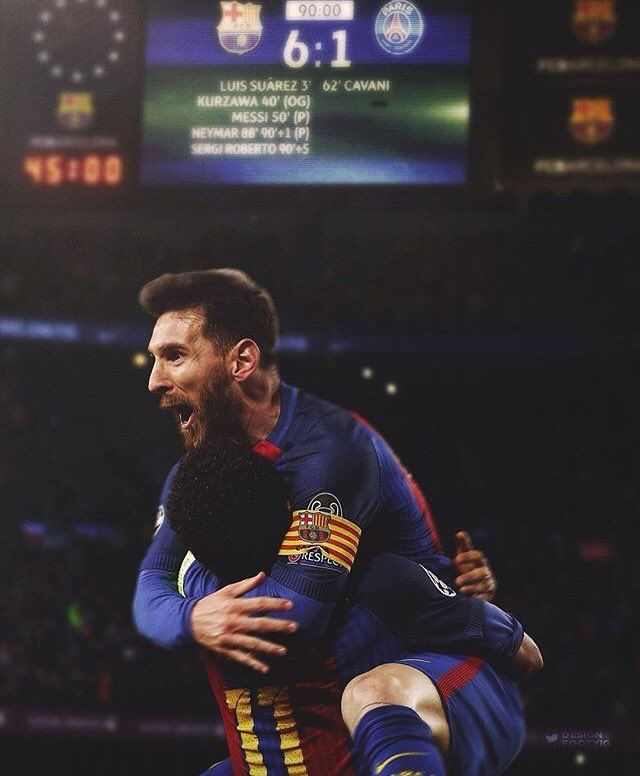 Messi et Neymar Fc Barcelone 6/1 Vs Psg Good times Good memories about good people