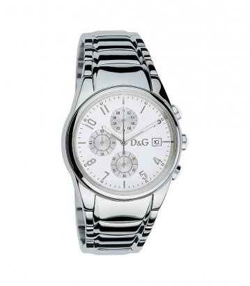 D    Chronograph watch - white/silver