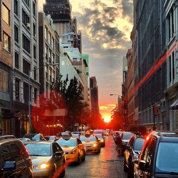 : Sunsets Align, Manhattanheng 2013, Sun Sets, Sun Align, Beaucolburn, York Photography, Sets Sun, Manhattan East West, Align Perfect
