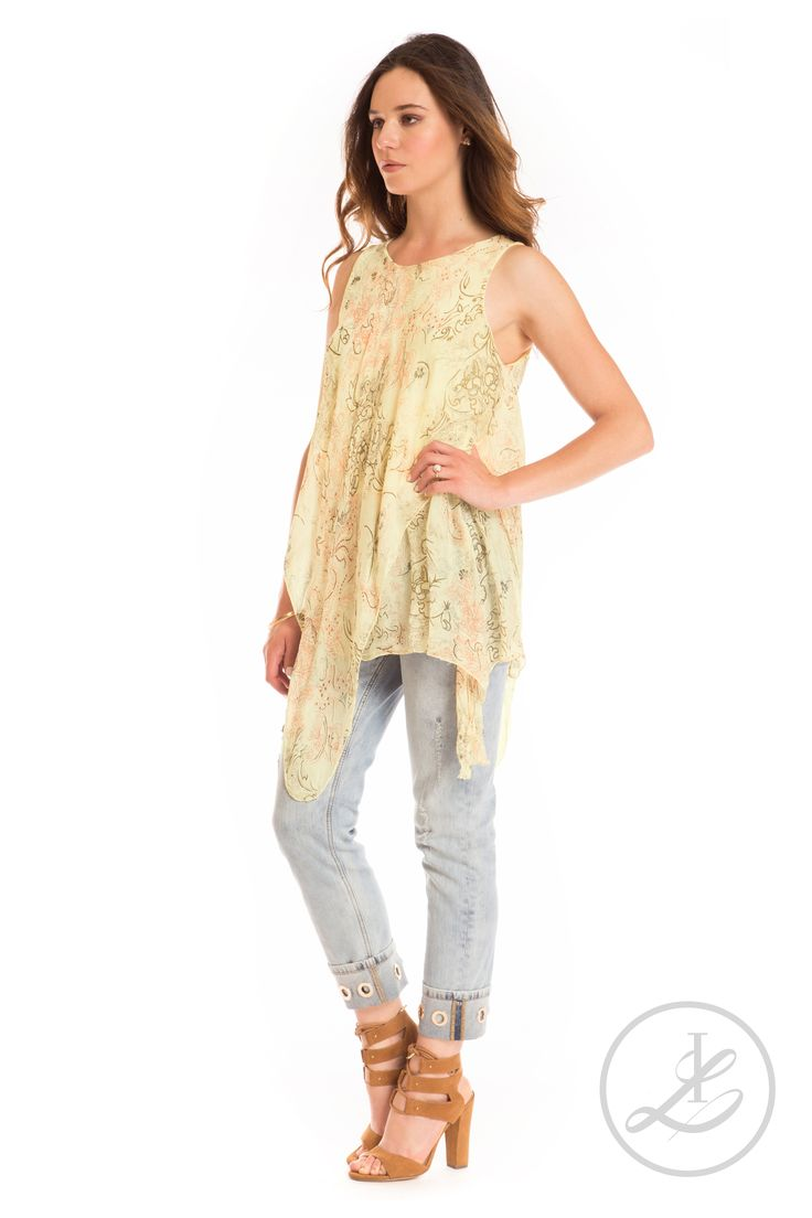Ivy & Lace Spring 2017. Chic, silk tunic in neutral summer colors. Made In Italy