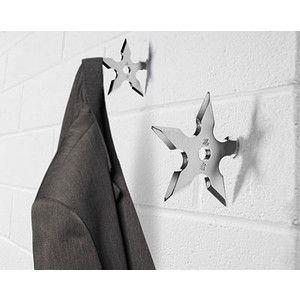 Ninja Star Coat Hook: Stars, Coat Hooks, Star Coat, Ninja Coat, Coats, Ninjastar