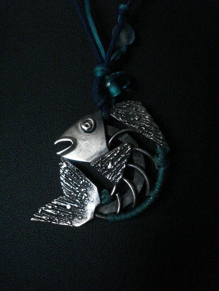 handmade pendant fish of silver 925