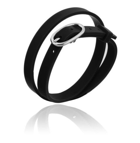 MYFIRST - AGAT'you double wrap silicon slide charm bracelet with a silver buckle