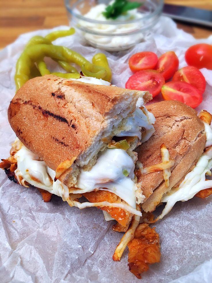 Dupla sajtos csirkés szendvics - VIDEÓVAL! I Double cheese chicken sandwich - with video!