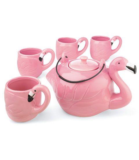 musefraisedesbois:  Flamingo tea party… je cherche un nom de magasin…n'hésitez pas à partager!  //