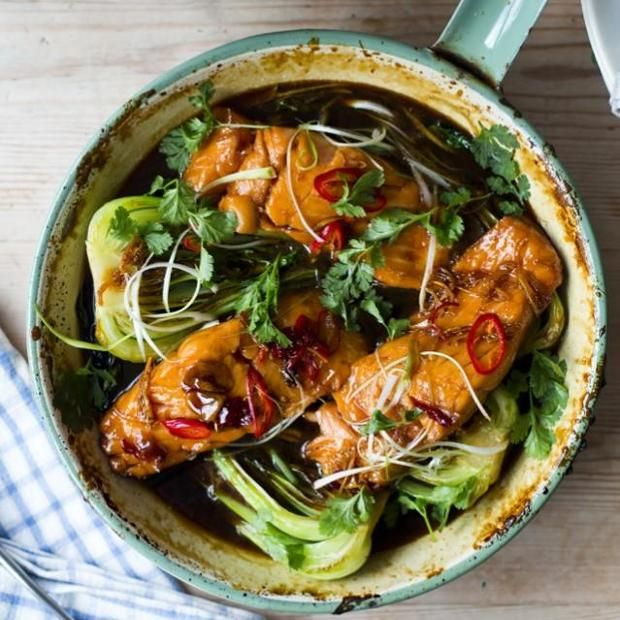 Vietnamese Caramel Salmon Recipe main-dish, dairy free, low fat, nut free, memorial day, dinner, asian, vietnamese with 9 ingredients