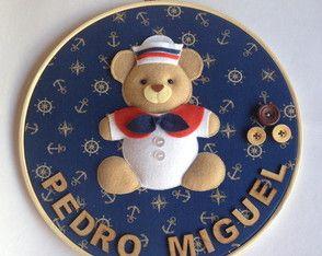 Quadro Maternidade Ursinho Marinheiro