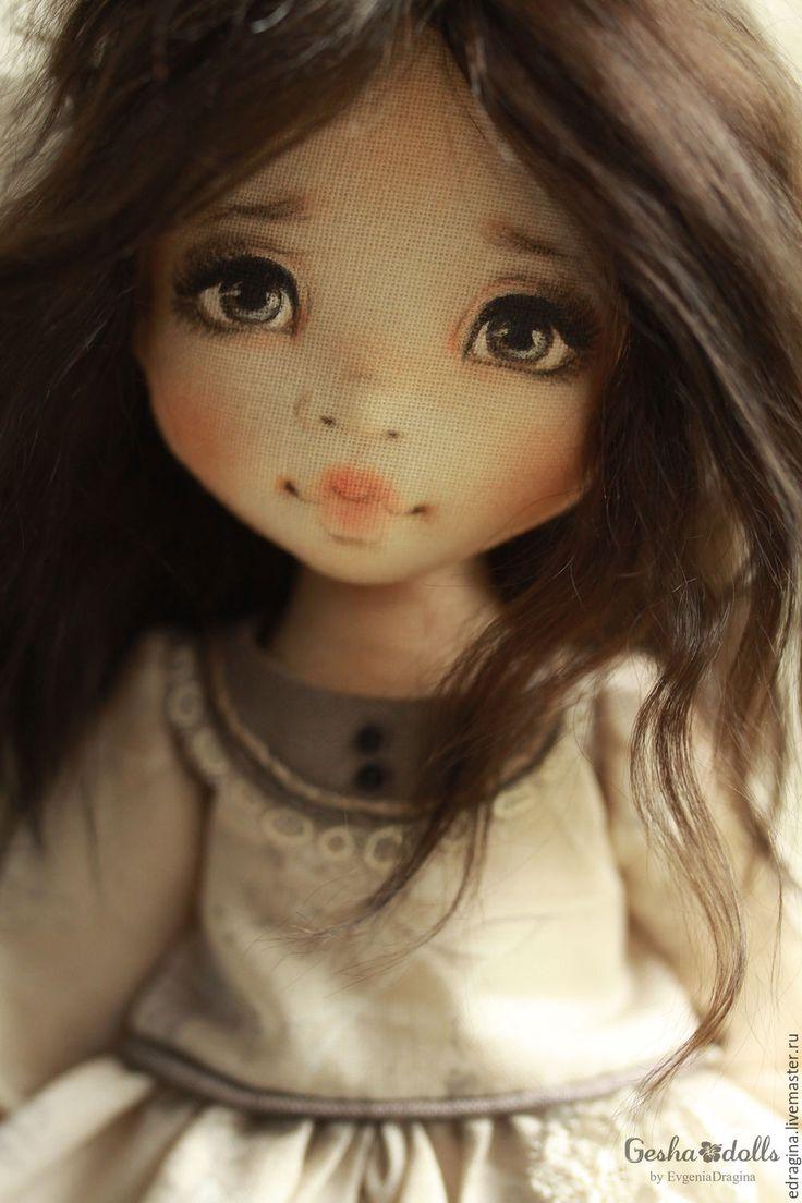 Купить Амели - белый, серый, коричневый, енот, нежность, детство, доброта, дружба, текстильная кукла