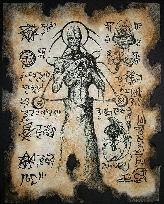Cthulhu Necronomicon Fragment Sorcerers of Atlantis by zarono, $10.00