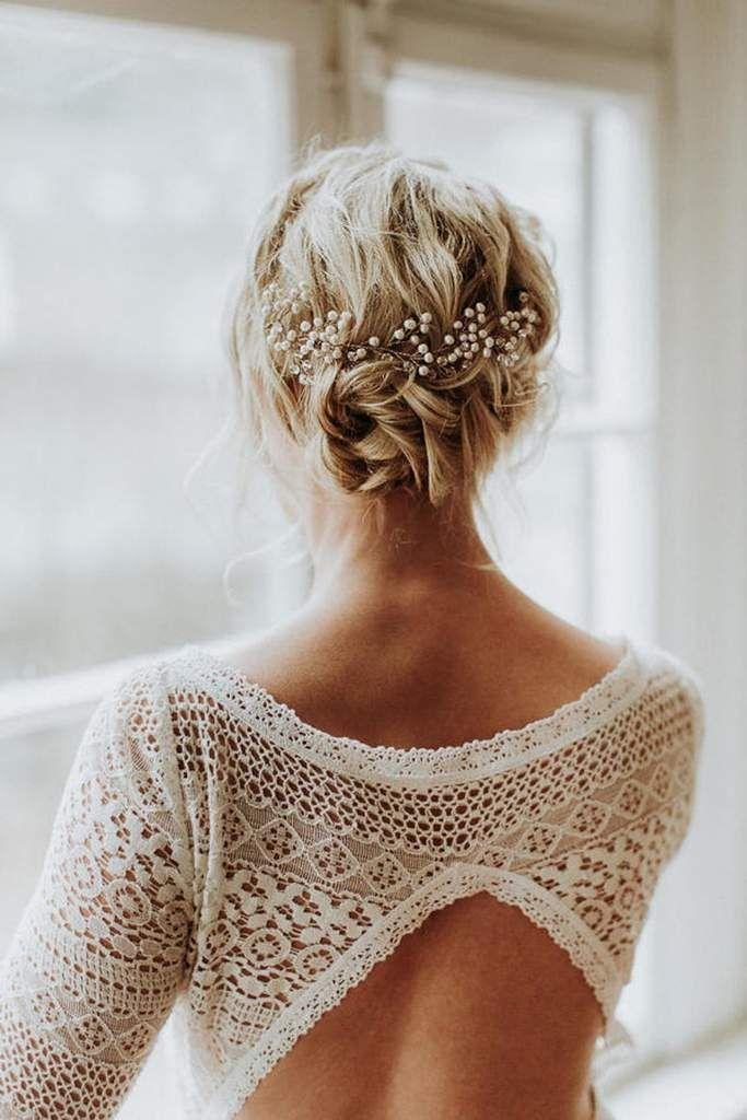 Braut Haarschmuck Tiara Headpiece Im Boho Style Luna Haarschmuck Braut Schulterlange Haare Frisur Hochzeit Haarschmuck