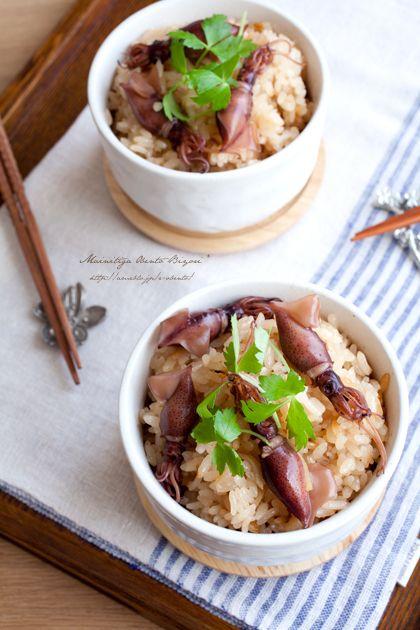 Japanese food / ホタルイカの炊き込みご飯