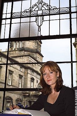 JK Rowling in Nicolson's cafe in Edinburgh, where she wrote Harry Potter and the Philosopher's Stone (in pencil, not on a laptop): Harry Potter Book