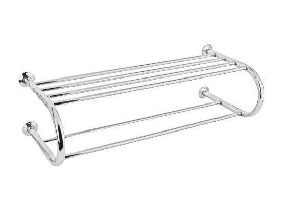 Závěsný držák na ručníky z pochromované ocele, se 4 horními a 2 spodními tyčemi nabízí dostatek místa pro zavěšení ručníků. Š/V/H: 6x19,7x28,6 cm