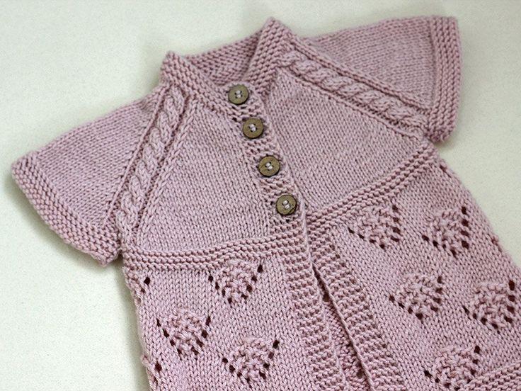 Pink Vest Hand Knit Baby girl dusty pink vest by CrochetKidsStyle