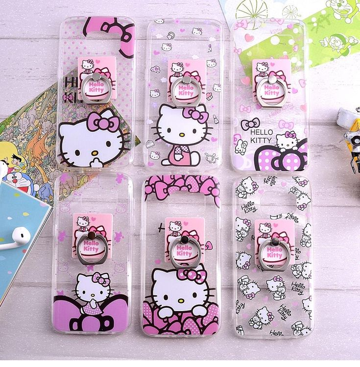 Luxury Cute Girls Love Hello Kitty Case S7 Edge Electroplating Soft Tpu Phone Covers with Ring Stent for Samsung S7 Iphone Online with $2.82/Piece on Aceciga's Store | DHgate.com