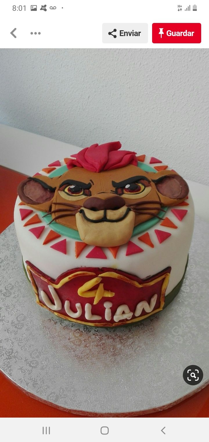 Pin By Sara Zeballos On Rey León Lion Guard Birthday Cake Lion Guard Cake Lion King Cakes