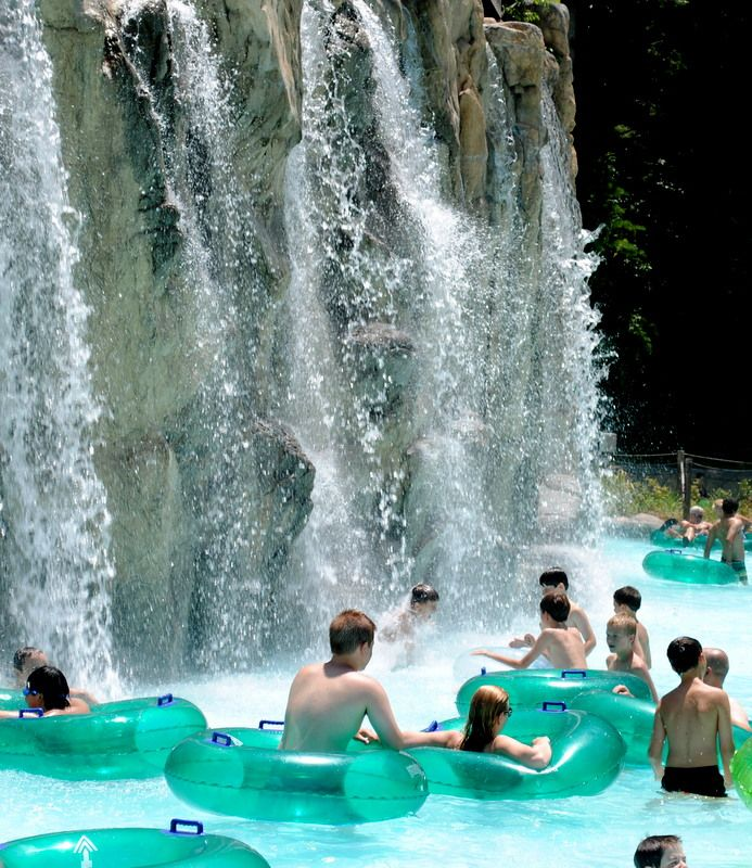 Be lazy on the lazy river at Dollywood's Splash Country ...