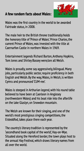 Random facts about Wales...where my ancestors are from