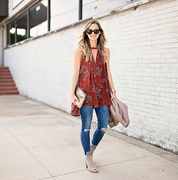 livvyland-blog-olivia-watson-free-people-red-floral-tunic-tank-top-bb-dakota-draped-front-jacket-fall-outfit-idea-austin-texas-fashion-blogger-8