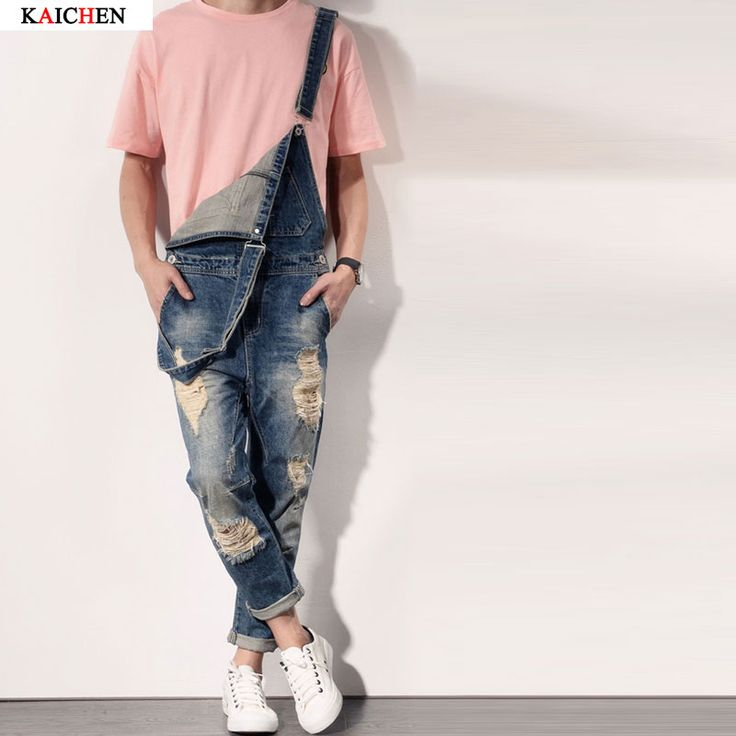 Cheap denim overalls men, Buy Quality male denim jumpsuit directly from China jeans masculino Suppliers: Fashion bib denim jean overalls for men 2016 Brand long solid blue slim cowboy overall cotton overalls men's jeaneUSD 49