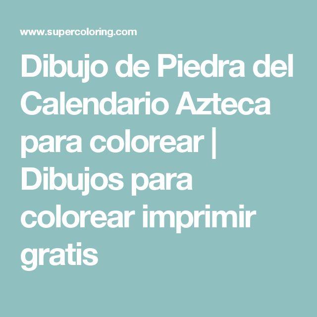Dibujo de Piedra del Calendario Azteca para colorear | Dibujos para colorear imprimir gratis