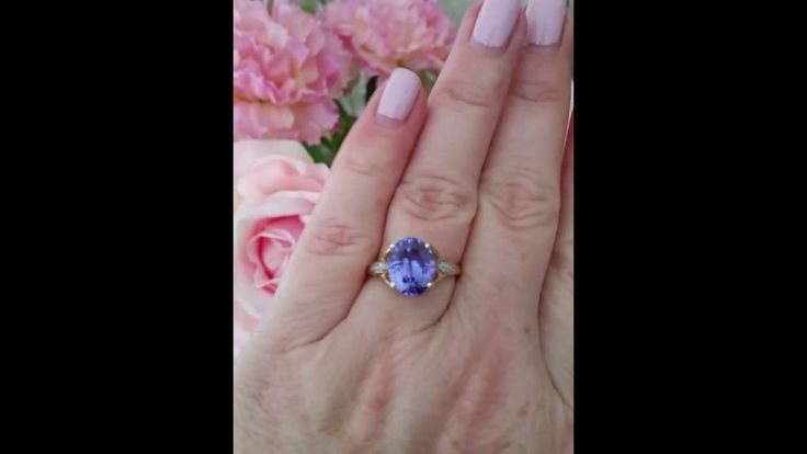 3.25ct Tanzanite and diamond ring for sale - part 2