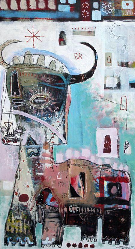 Bull spirito Print Jesse Reno 13 x 19