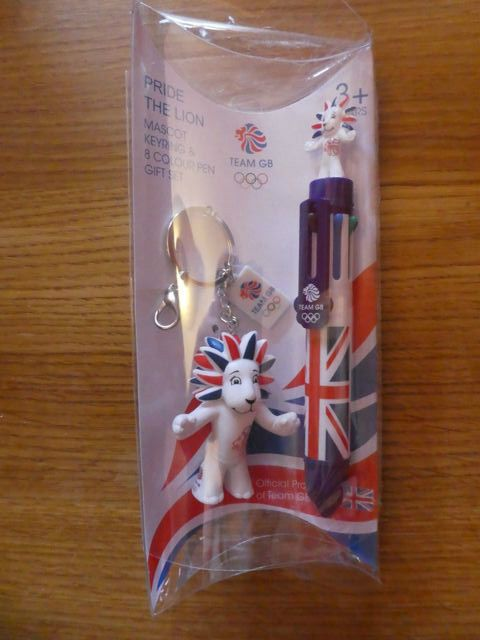 TEAM GB Pride the Lion Mascot Key ring & 8 colour pen gift set OLYMPICS  | eBay