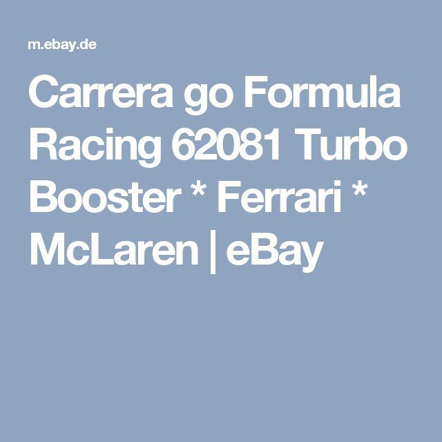 Carrera go Formula Racing 62081 Turbo Booster * Ferrari * McLaren  | eBay