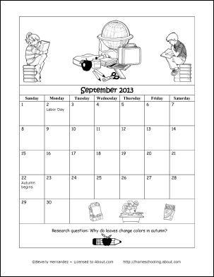 coloring calendars sector pages - photo#36