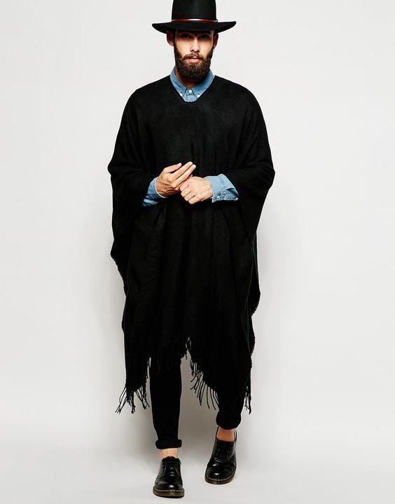 Macho Moda - Blog de Moda Masculina: Look Masculino com Poncho, você usaria?