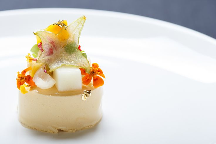 """""""Inspiration for this dish came from a number of sources: the traditional tiffin carriers come from Peranakan culture; the caramel mousse is an ode to my favourite sweet treat in Singapore – kaya toast."""" Adam Liaw, Destination Flavour Singapore"""