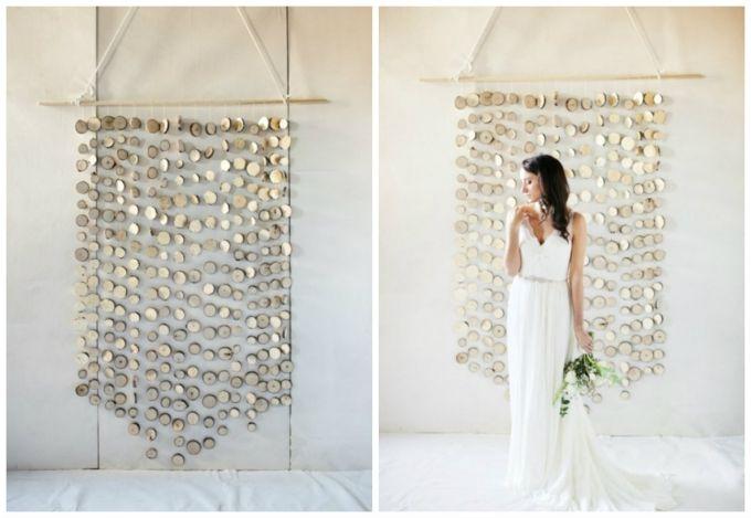 Как сделать свадебный фон в стиле эко и рустик