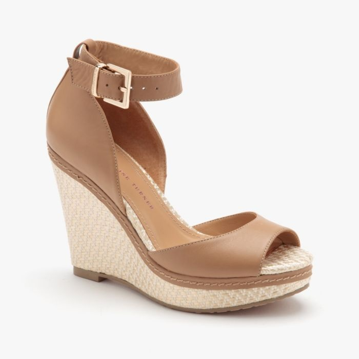 Kayla Leather Wedge in Butter (ETURNER1 1056715)