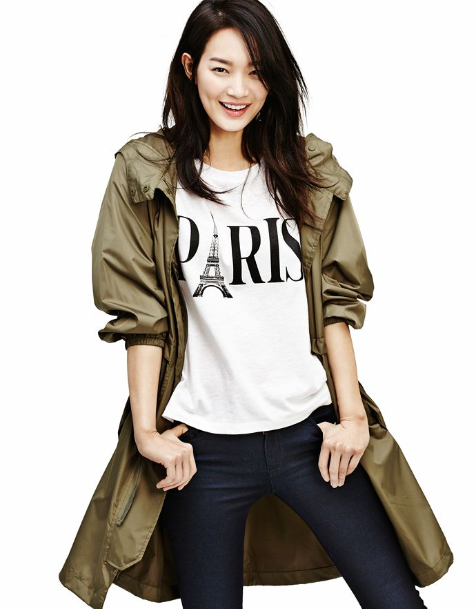 More Of Shin Min Ah & Kim Woo Bin For GIORDANO's Spring 2015 Campaign | Couch Kimchi