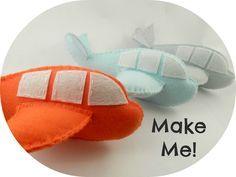 Maisie-Moo Handmade Felt Creations: Make your own Felt Airplane PDF Pattern - By Maisie Moo