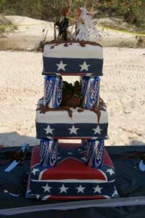 Wedding Cake-i want rebel flag throughout the whole cake