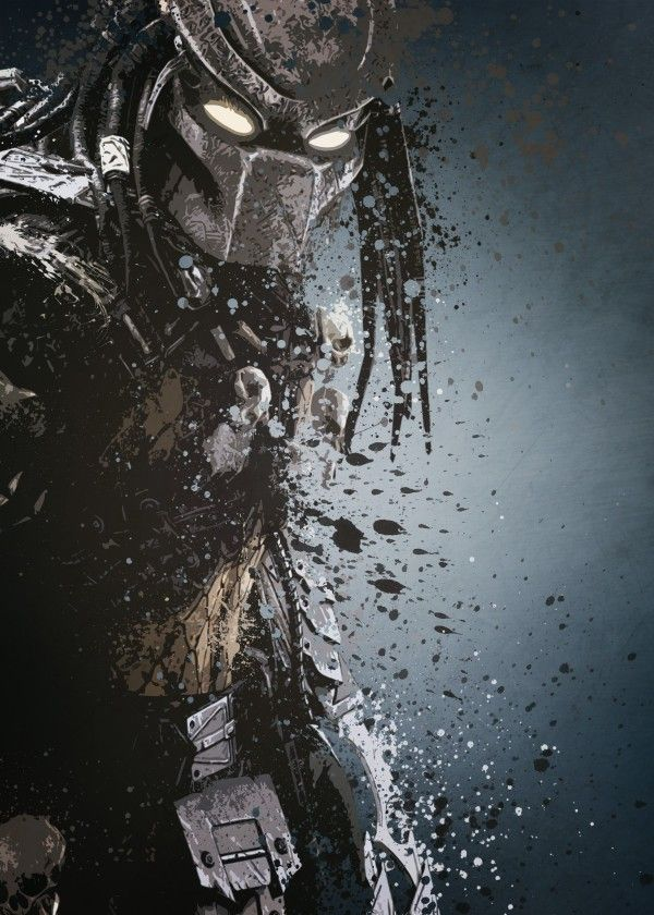 Predator version 2. Splatter effect artwork inspired by the aliens vs predator games.