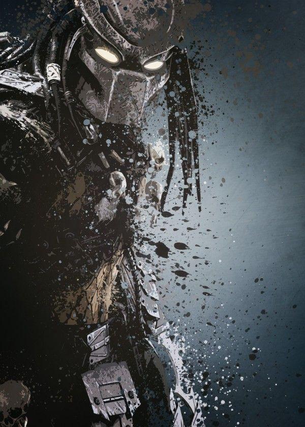 Predator version 2. Splatter effect artwork inspired by the aliens vs predator games.