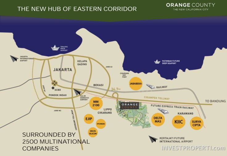 Peta Lokasi Orange County Cikarang. #orangecountycikarang